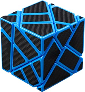 cuberspeed Fangcun Ghost 3x3 Blue Magic Cube 3x3 Ghost 3x3x3 Speed Cube with Black Carbon Fiber Stickers