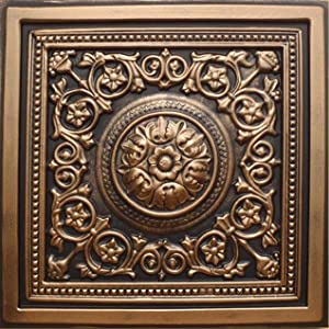 """30pc of Majesty Bronze/Black (24""""x24"""" PVC 20 mil) Ceiling Tiles - Covers About 120sqft"""