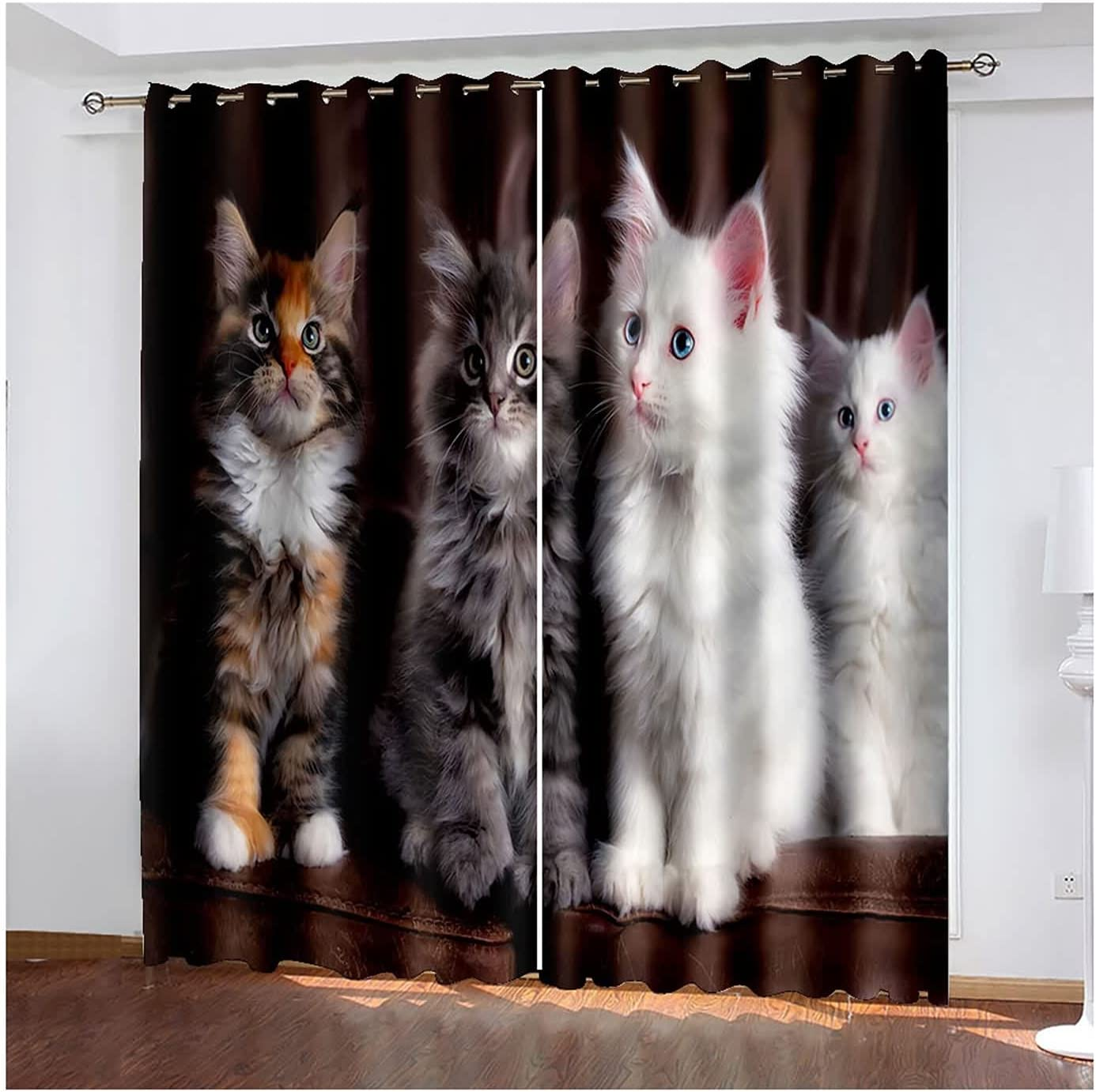 Daesar Beauty products Max 48% OFF Curtain for Living Room Panels Curtains 4 2