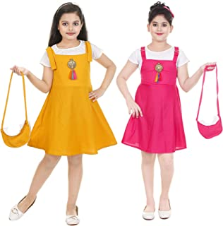 Girls Dungrere with A Set of Bag (Pack of 2)