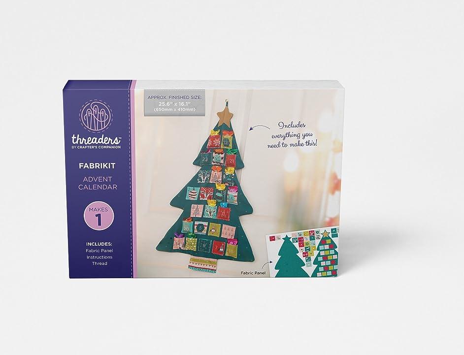 Threaders Fabric Advent Calendar, Multi-Colour, 65 x 41 cm