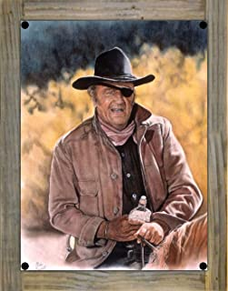 Northwest Art Mall John Wayne - True Grit Metal Print on Reclaimed Barn Wood by Mike Bennett (9
