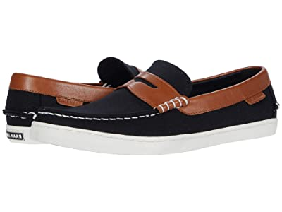 Cole Haan Pinch Weekender Loafer (Black Canvas/British Tan) Men