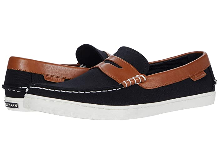 Cole Haan  Pinch Weekender Loafer (Black Canvas/British Tan) Mens Shoes