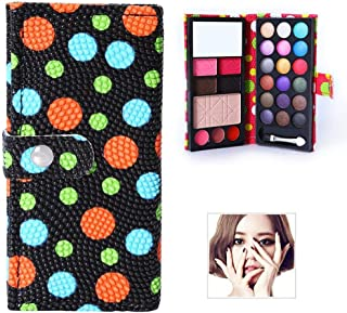 26 Colors Matte Eyeshadow Palette With Mirror Brush Women Makeup Anti-Blooming Natural Cosmetic Gift black