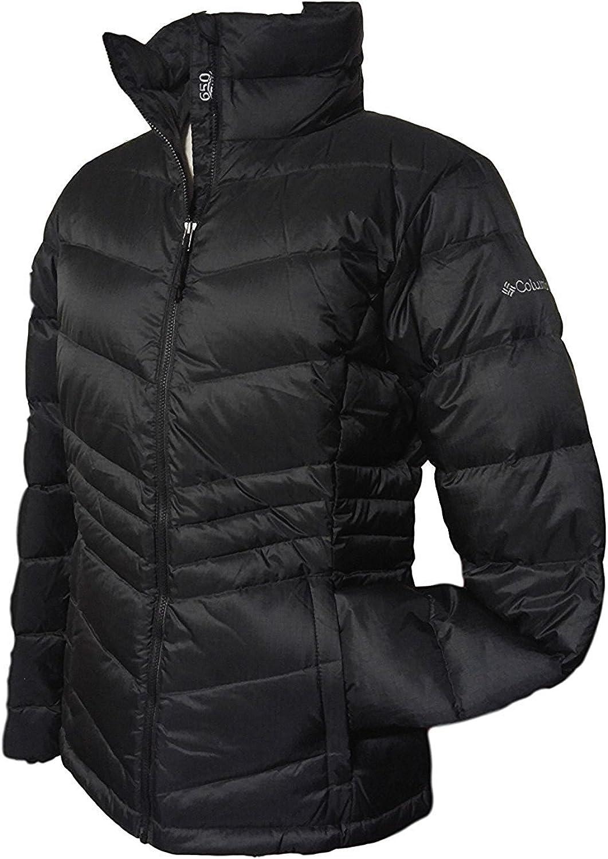 Columbia Women's Polar Freeze Short Down Jacket Omni Heat Warm Winter Coat, BLACK