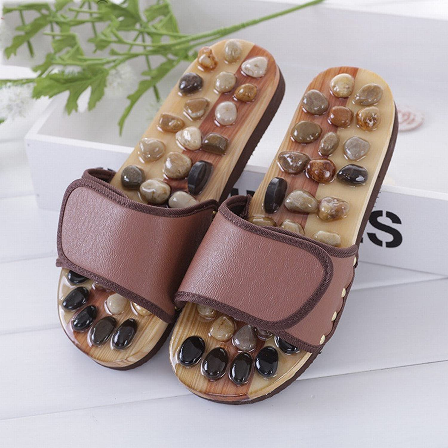 SED Autumn Foot Acupuncture Point Health Care Pebble Massage Men and Women Couples Massage shoes Home Sandals