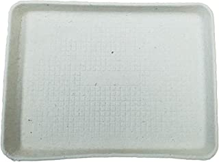 "MT Products Off White Rectangular shaped Fiber Pulp Cafeteria Style Food Tray Size 9""x 12 (15 قطعة)"