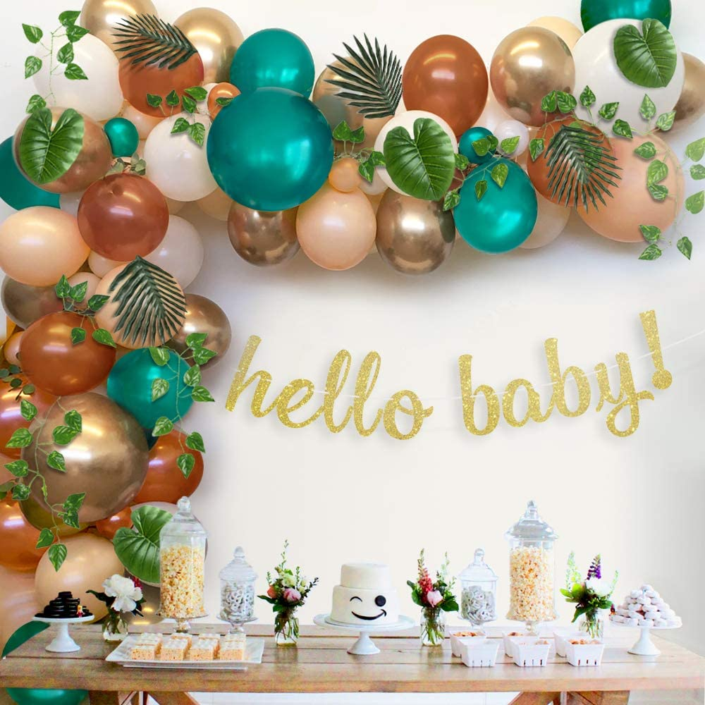 Sweet Baby Co. Woodland Baby Shower Decorations Greenery Garland