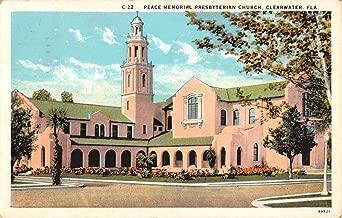 Clearwater Florida Peace Memorial Presbyterian Church Antique Postcard K15392