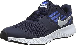Nike Australia Star Runner (GS) Boys Running Shoes, Obsidian/Metallic Silver-Signal Blue