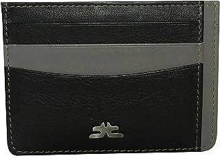 Laveri Black Leather For Unisex - Card & ID Cases