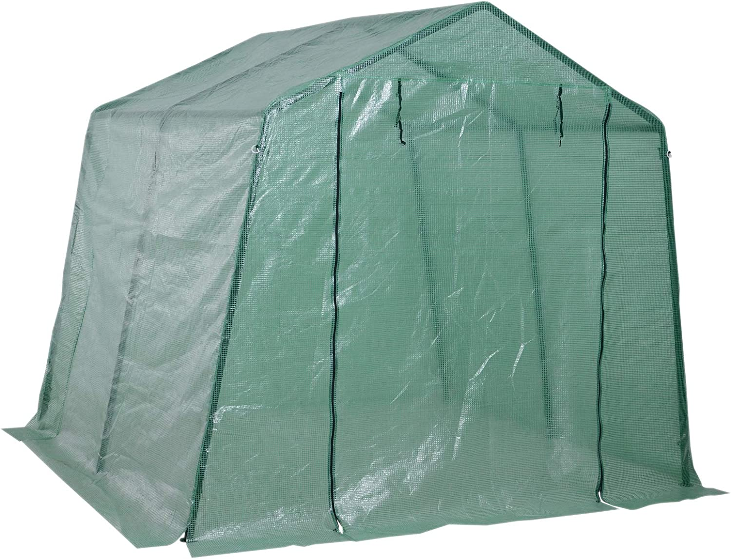 Outsunny Walkin Greenhouse Plant Growth Tent Warm House Gardening Tunnel PE Cover Outdoor Planter 250 x 240 x 210 cm