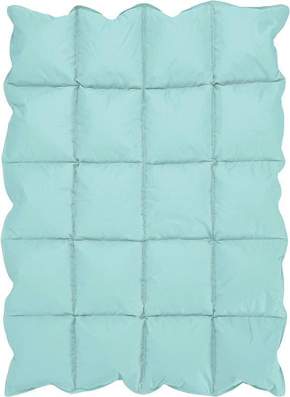 Turquoise Blue Baby Down Alternative Comforter Blanket For Crib Bedding