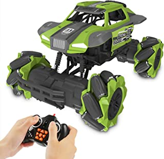 NOEIKY Remote Control Car Silver 360/° Rotation Drift Stunt ELF Flexible Steering Toy Cars Buggy for Kids Boys Girls Speed Racing Rechargeable Vehicle with Cool Lights