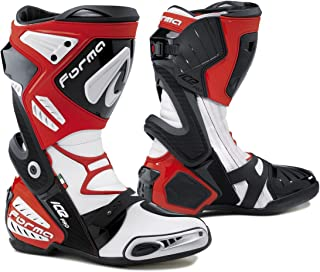 Forma Ice Pro Street Motorcycle Boots (Red, Size 9 US/Size 43 Euro)