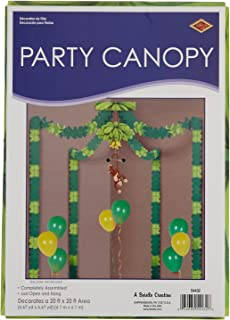 Beistle 54432 Jungle Monkey Canopy, One Size, Multicolored