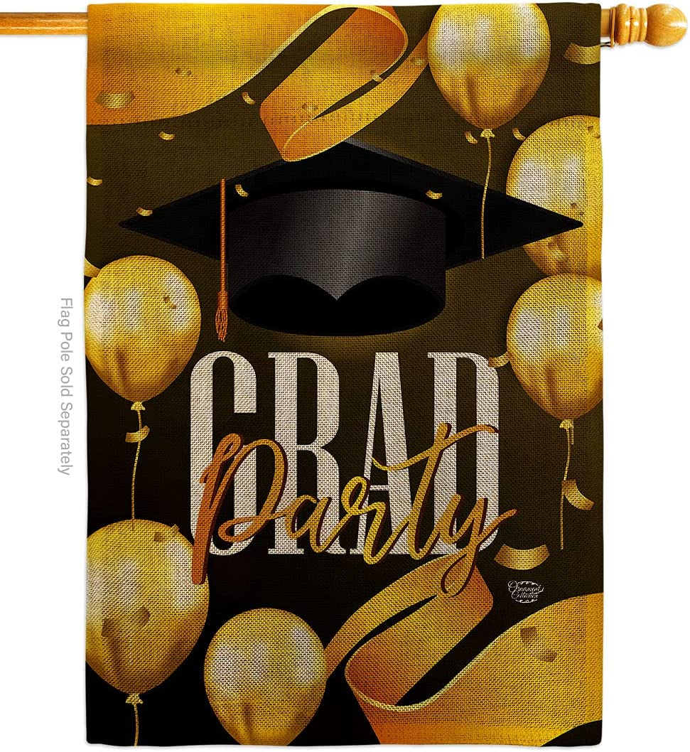 Ornament Collection Grad In stock Party gift Burlap House Flag Gradu Education