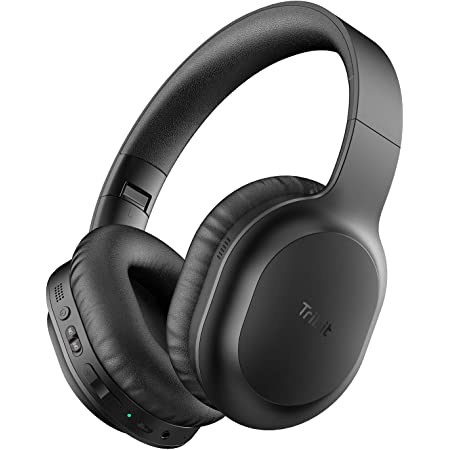 Tribit Active Noise Cancelling Headphones with CVC8.0 Mics,Lightweight Bluetooth Headphones Wireless Over Ear for Comfort Fit,Hi-Fi Stereo Deep Bass,30H Playtime,Fast USB-C Charging for Travel/Work