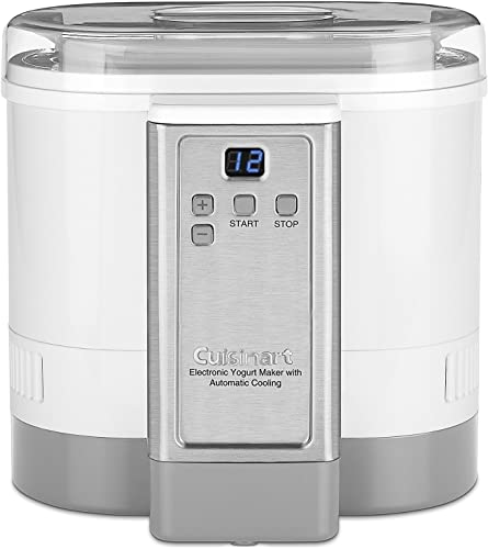 new arrival Cuisinart CYM-100 Electronic Yogurt outlet online sale Maker with popular Automatic Cooling,3.12lb Jar capacity,(1.5L) online