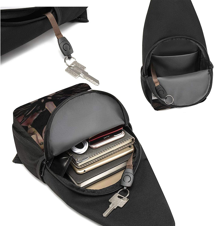 He Nightmare Before Christmas Printed Sling Backpack,Lightweight Shoulder Chest Backpack Travel Hiking Bag Crossbody Shoulder Bag