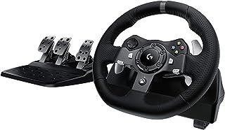Logitech G920 Driving Force Volante de Carreras y Pedales, Force Feedback, Aluminio Anodizado, Palancas de cambio, Volante...
