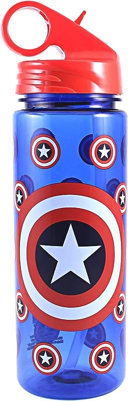 Marvel Captain America SILVER BUFFALO LLC ME0264 600ml Cap Americ Bottle 20 Oz Blue