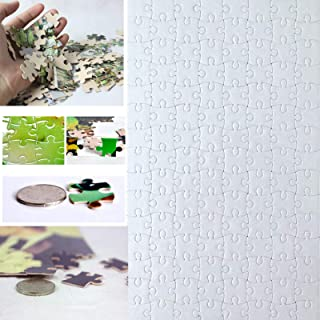 10 Sets Blank Sublimation A4 Jigsaw Puzzle with 120 Pieces DIY Heat Press Transfer Crafts A4 Thermal Transfer Puzzle Whole...