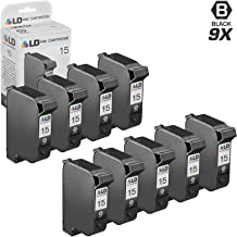 LD Remanufactured Ink Cartridge Replacement for HP 15 C6615DN (Black, 9-Pack)
