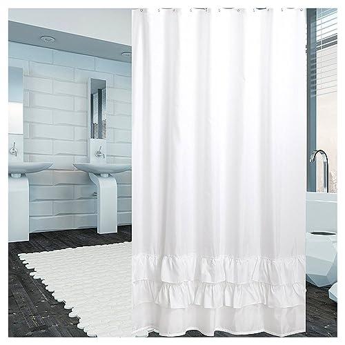 White Shower Curtain Amazon Com