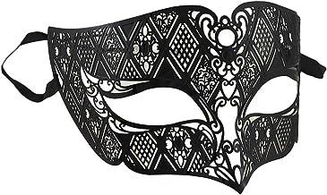 Lacy Black Venetian Style Half Face Fantasy Masquerade Costume Mask