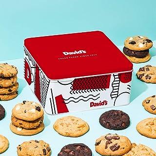 David's Cookies - 24 Fresh Baked Assorted Cookies Gourmet Gift Basket - Holiday & Corporate Food Tin - Idea For Men & Women - Certified Kosher - 2lb