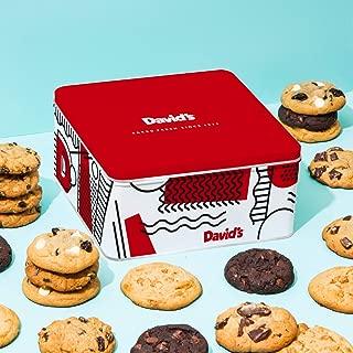 David's Cookies 24 Fresh Baked Cookies Gourmet Gift Basket, Assorted, 2 Lb