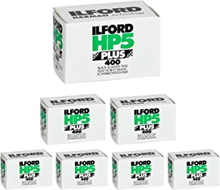 Ritz Camera Pack of 7 Ilford 1574577 HP5 Plus, Black and White Print Film, 35 mm, ISO 400, 36 Exposures