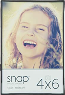 Snap 4x6 Front Loading Narrow Photo Frame, For Wall or Tabletop Display (02P991)