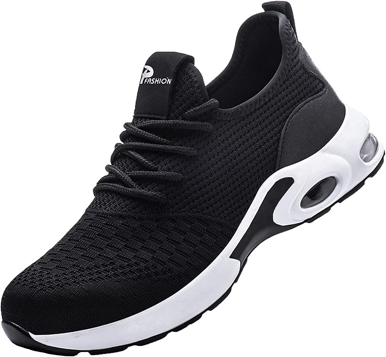 Autumn New Mens Fashion Casual Shoes Women'S Outdoor Solid Color Lace Up Working Thick Bottom Walking Sneakers Mesh Breathable No-Slip Lightweight Trainers Running Sports Shoes