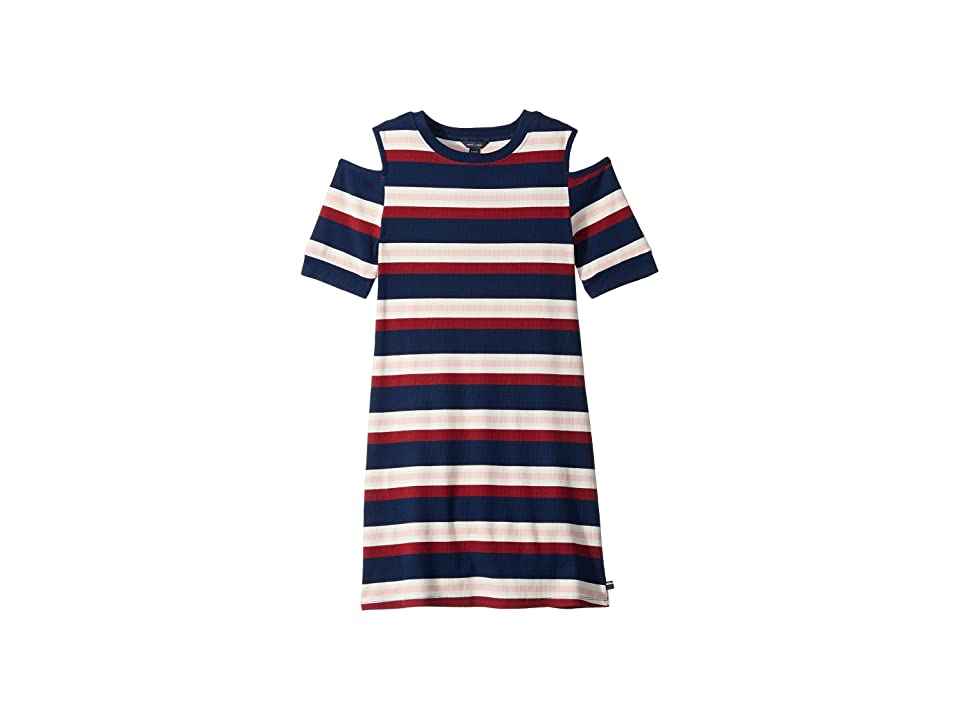 Tommy Hilfiger Kids Rib Dress (Big Kids) (Flag Blue) Girl