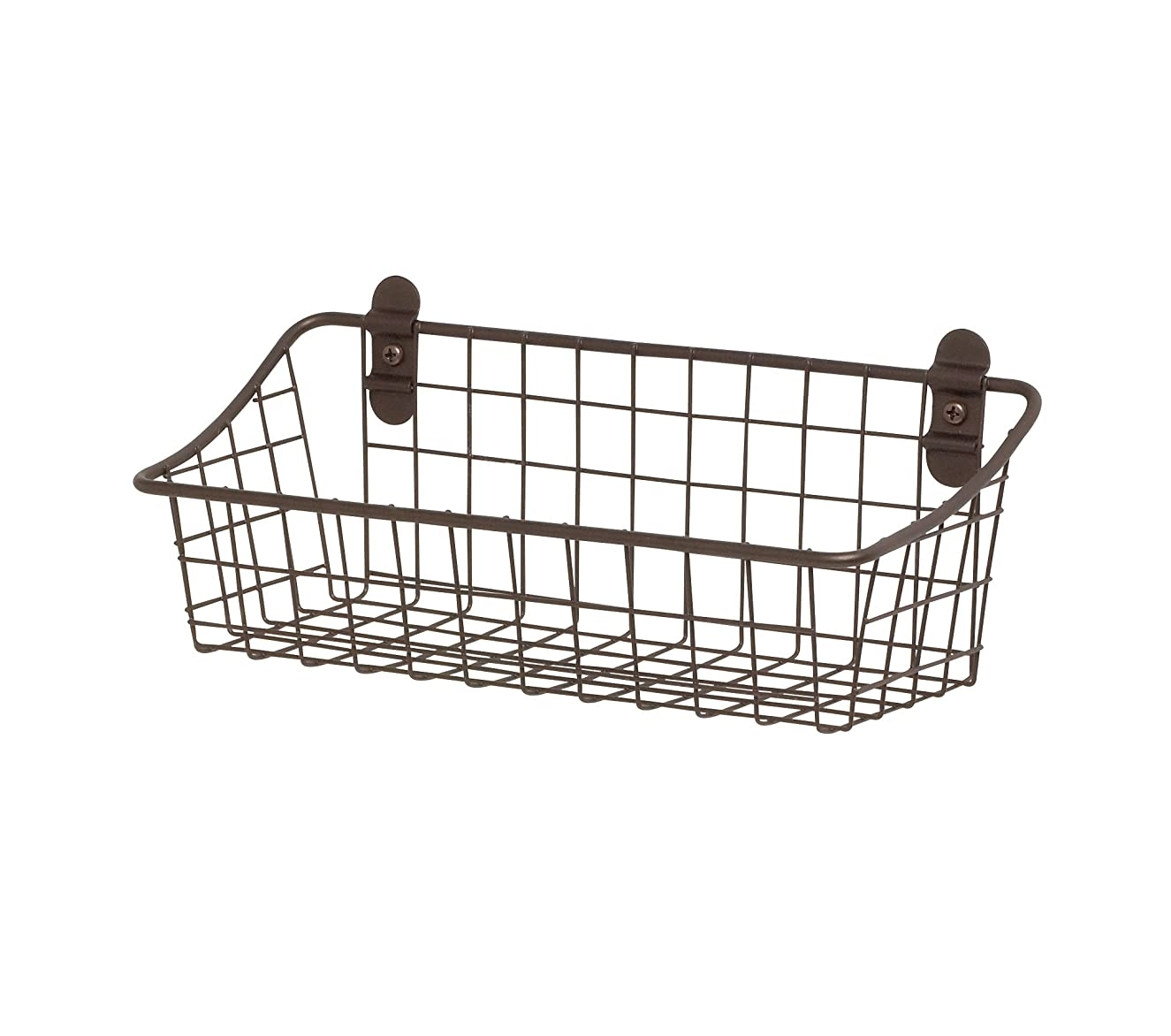 Spectrum Diversified Vintage Wall Mount Storage Basket, Small, Bronze, 3 Ounce