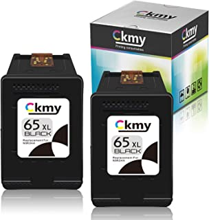 CKMY Remanufactured Ink Cartridge Replacement for HP 65XL Ink Cartridge Compatible for HP DeskJet 2655 3755 2622 3752 2636...