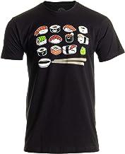Happy Sushi   Funny, Cute Fun Japanese Food Go Rice Art for Men Women T-Shirt