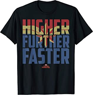 Captain Marvel Movie Higher Further Faster Graphic T-Shirt T-Shirt