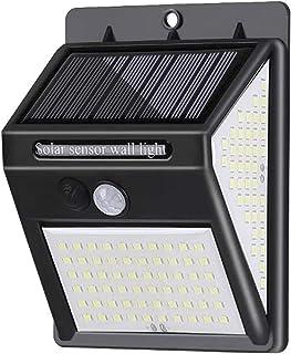pedkit Lâmpada de parede movida a energia solar Sensor de iluminação e PIR Controle de sensor de movimento Três lados Luz ...