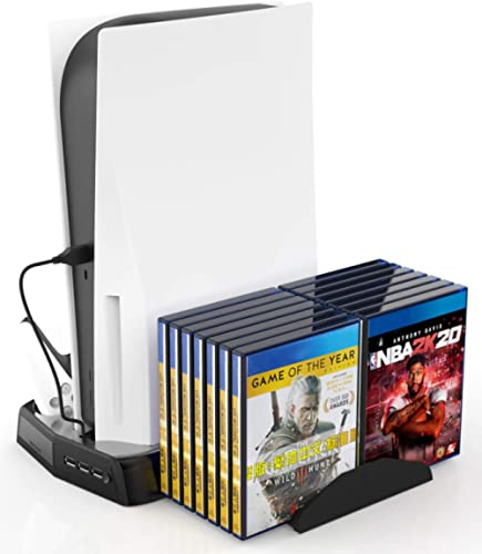 Supports Multifonctions Fisound PS5 DE / UHD All In 1 Support Pour PS5 Digital Edition / Ultra HD Dock De Chargement ...