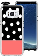 Polka Case for Samsung S8,Ecute Soft Slim Flexible Clear Rubber Side + Style Hard Back Case for Samsung Galaxy S8 5.8