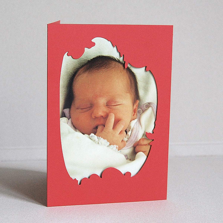 20 rote Passepartoutkarte für Fotos, 16,5 x 11,5 cm (offen 16,5 x 34,5 cm), PopSet ziegelrot 320 g qm B00IHER81U | Billig