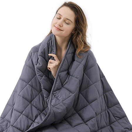 Leefun Gewichtsdecke Schwere Decke f/ür Erwachsene und Kinder Gegen Schlafst/örung und Stress Therapiedecke Weighted Blanket f/ür 45-120kg Personen Grau,135x200cm,6kg