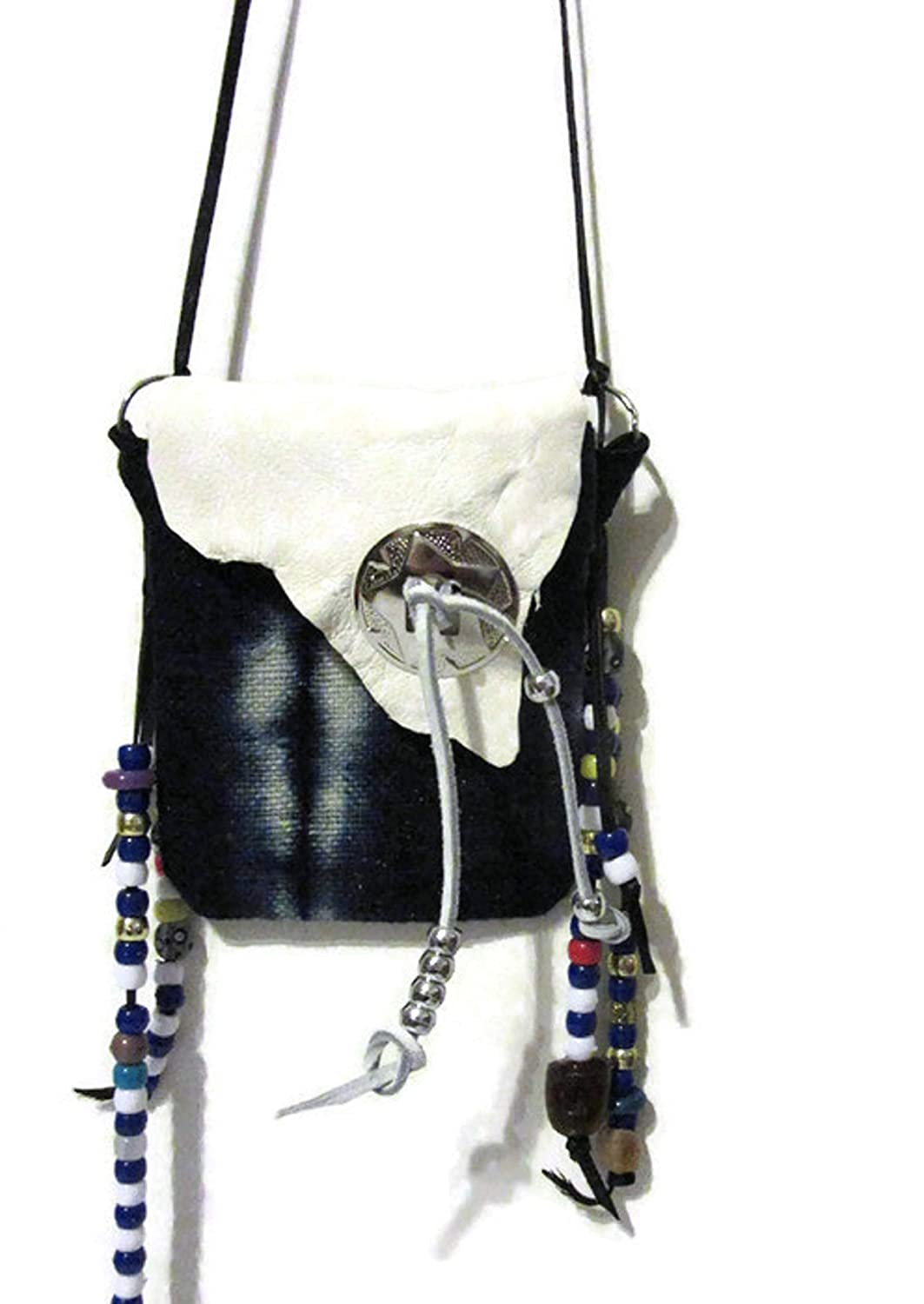 Max 53% OFF Medicine Year-end annual account Bag Indigo Blue Style American Necklace Native