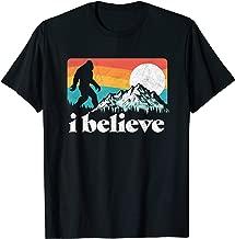 I Believe! Funny Retro Bigfoot Mountains T-Shirt