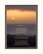 Wedding Gift for The Couple with Wedding Prayer Poem. Ocean Sunset Photo, 8x10 Double Matted. Special Wedding Gift for The Bride and Groom. Unique Keepsake Gift for Wedding Couples
