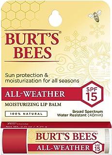 Burts Bees - Balsamo per labbra SPF per tutte le stagioni, 4,25 g
